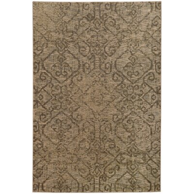 Tackett Beige/Grey Area Rug Rug Size: Rectangle 53 x 76