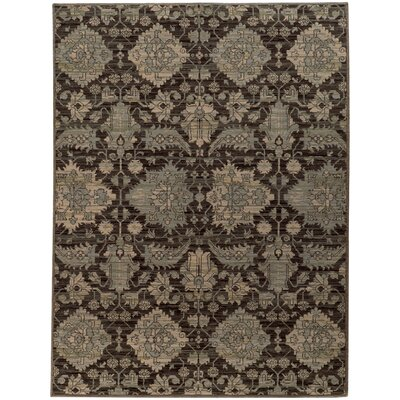 Tackett Blue/Black Area Rug Rug Size: Rectangle 910 x 1210