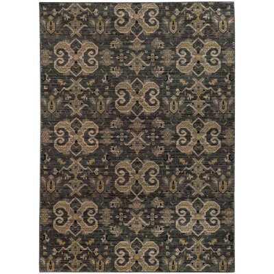 Tackett Blue/Gold Area Rug Rug Size: 67 x 96