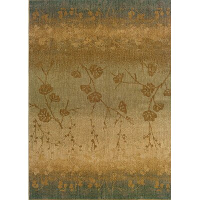 Tindell Beige/Blue Area Rug Rug Size: Rectangle 53 x 76