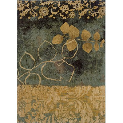 Tindell Beige/Blue Area Rug Rug Size: Rectangle 67 x 96