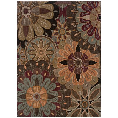 Mathis Tan/Blue Area Rug Rug Size: Rectangle 53 x 76