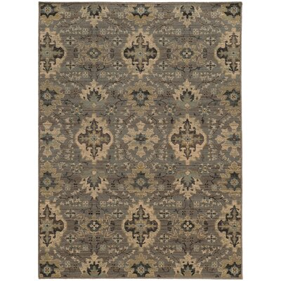 Tackett Gray Area Rug Rug Size: 910 x 1210