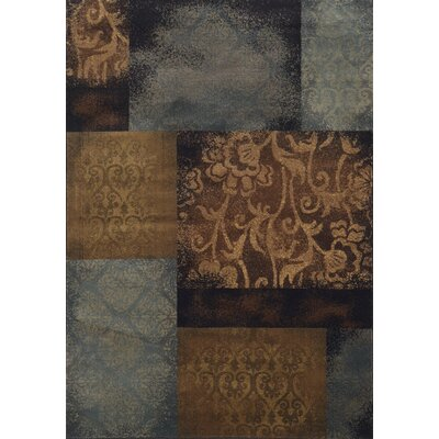 Matteson Blue/Brown Area Rug Rug Size: Round 78