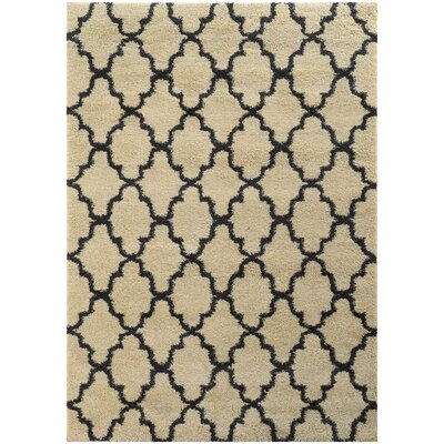 Maurer Ivory/Midnight Area Rug Rug Size: Rectangle 67 x 96