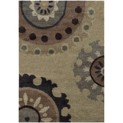 Maurer Beige/Midnight Area Rug Rug Size: Rectangle 910 x 1210