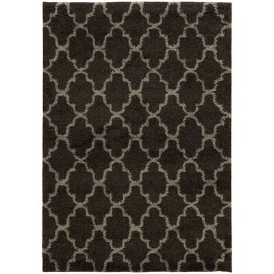 Maurer Midnight/Gray Area Rug Rug Size: Rectangle 53 x 76