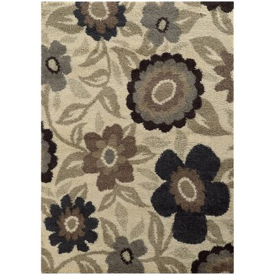 Maurer Gray/Cream/Black Area Rug Rug Size: Rectangle 53 x 76