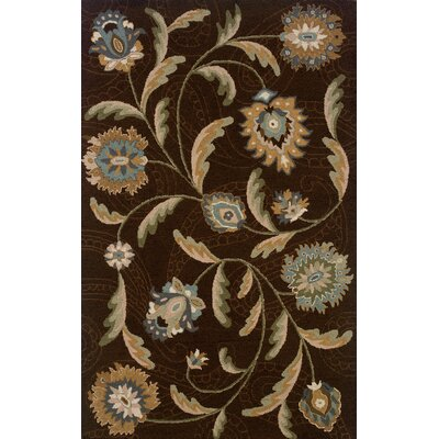 Maxson Hand-made Brown/Blue Area Rug Rug Size: 36 x 56