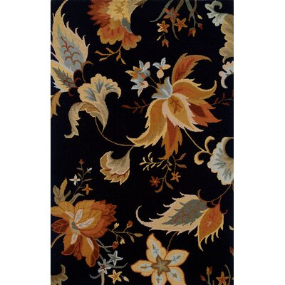 Maxson Hand-made Black/Gold Area Rug Rug Size: Rectangle 8 x 10