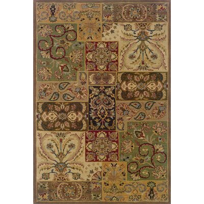 Mayhugh Hand-made Beige/Brown Area Rug Rug Size: 36 x 56