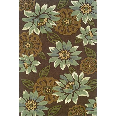 Maynes Brown/Blue Area Rug Rug Size: 5 x 8