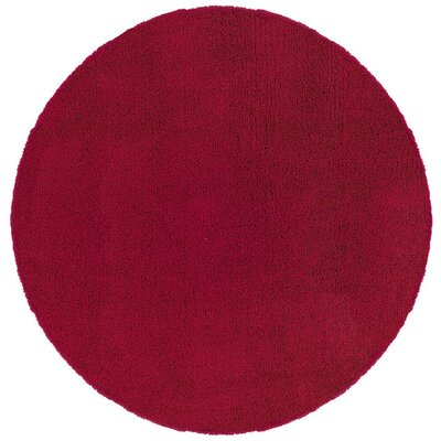 Mazon Solid Red Area Rug Rug Size: Round 6