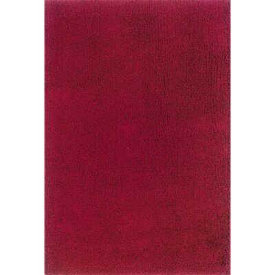 Mazon Solid Red Area Rug Rug Size: 53 x 79