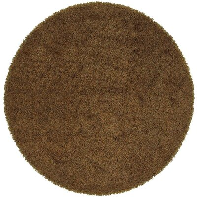 Mazon Solid Gold Area Rug Rug Size: Round 8