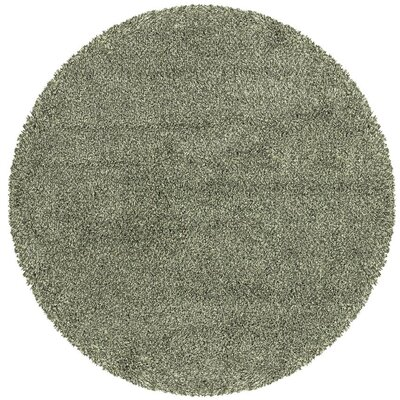 Mazon Tweed Teal Blue/Ivory Area Rug Rug Size: Round 6