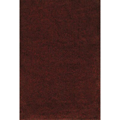 Mazon Tweed Red/Brown Area Rug Rug Size: 67 x 96