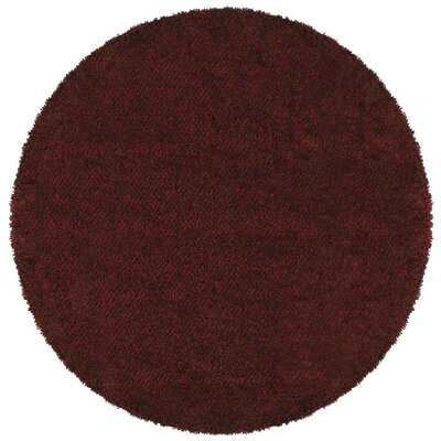 Mazon Tweed Red/Brown Area Rug Rug Size: Round 6