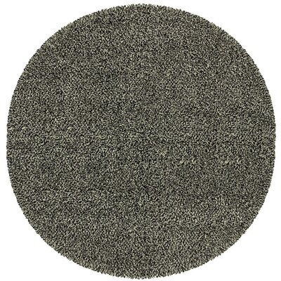 Mazon Tweed Black/Ivory Area Rug Rug Size: Round 8