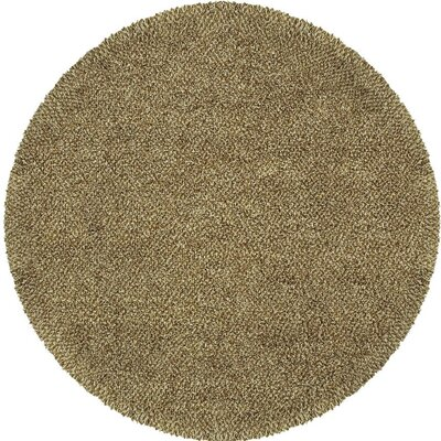 Mazon Tweed Brown/Ivory Area Rug Rug Size: Round 6'