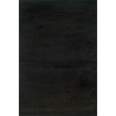 Mazon Solid Black Shag Area Rug Rug Size: Square 8