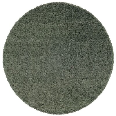 Mazon Solid Blue Area Rug Rug Size: Round 6