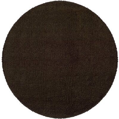 Mazon Solid Brown Area Rug Rug Size: Round 8
