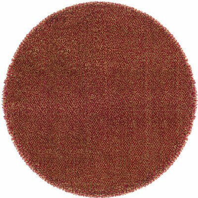 Mazon Tweed Red/Gold Area Rug Rug Size: Round 6