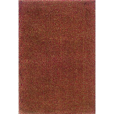 Mazon Tweed Red/Gold Area Rug Rug Size: 53 x 79