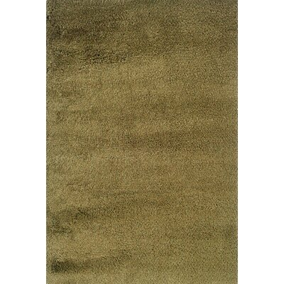Mazon Tweed Green/Gold Area Rug Rug Size: 53 x 79