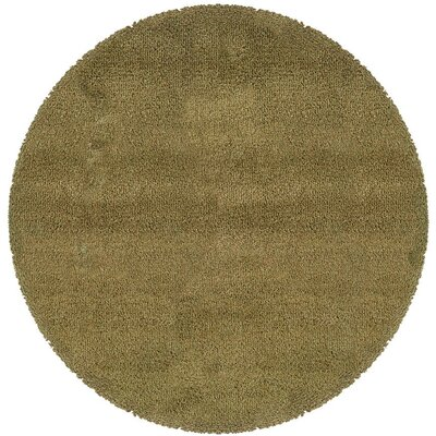 Mazon Tweed Green/Gold Area Rug Rug Size: Round 8
