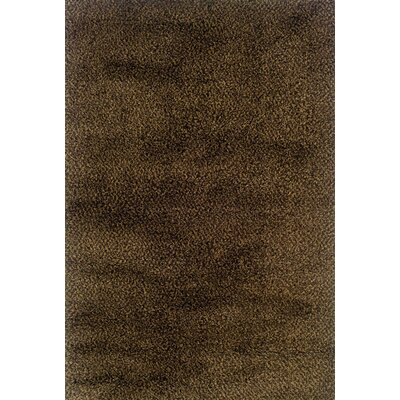 Mazon Tweed Brown/Gold Area Rug Rug Size: 53 x 79