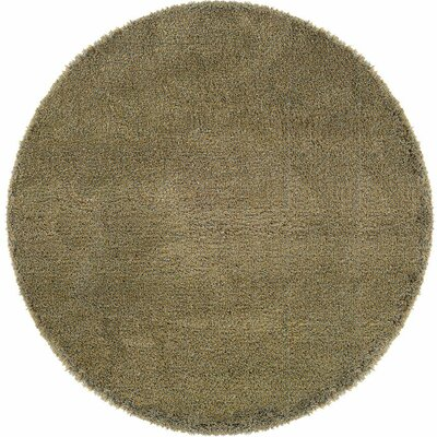 Mazon Tweed Blue/Gold Area Rug Rug Size: Round 6