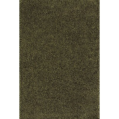 Mazon Tweed Green/Brown Area Rug Rug Size: 53 x 79