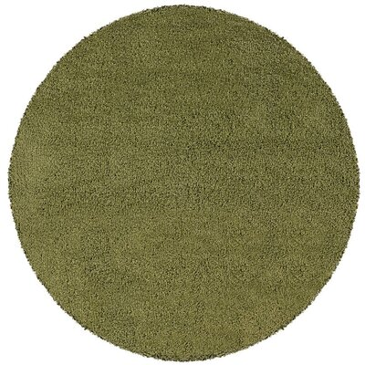 Mazon Solid Green Area Rug Rug Size: Round 8