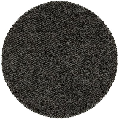 Mazon Tweed Blue/Brown Area Rug Rug Size: Round 6