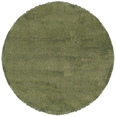 Mazon Tweed Green/Blue Area Rug Rug Size: Round 6