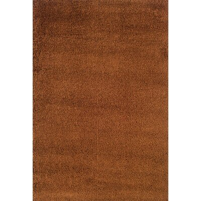 Mazon Tweed Rust/Brown Area Rug Rug Size: 53 x 79