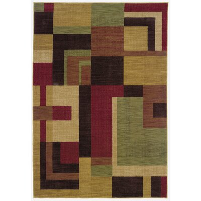 Ryles Red/Gold Area Rug Rug Size: 53 x 76