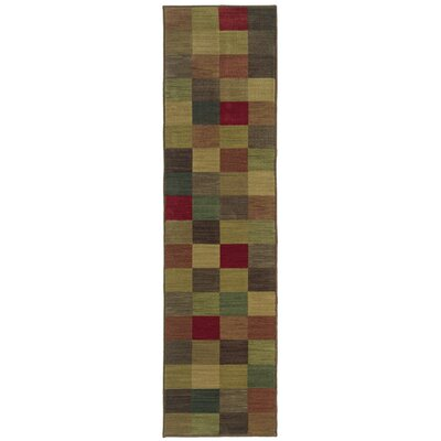 Ryles Brown/Red Area Rug Rug Size: Runner 111 x 76