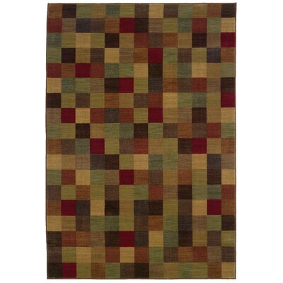 Ryles Brown/Red Area Rug Rug Size: 78 x 1010