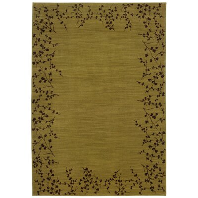Ryles Gold/Brown Area Rug Rug Size: Rectangle 53 x 76