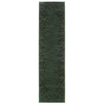 Ryles Blue/Brown Area Rug Rug Size: Runner 111 x 76