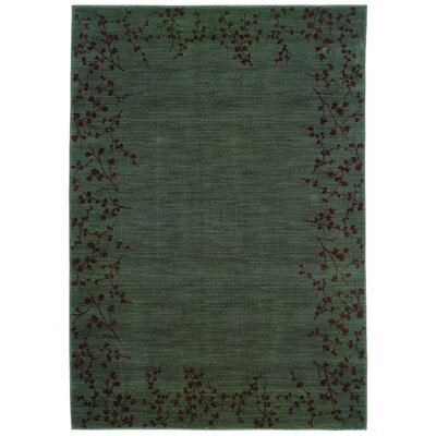 Ryles Blue/Brown Area Rug Rug Size: 53 x 76
