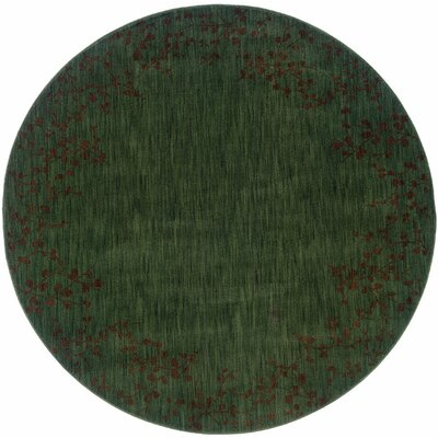 Ryles Blue/Brown Area Rug Rug Size: Round 78