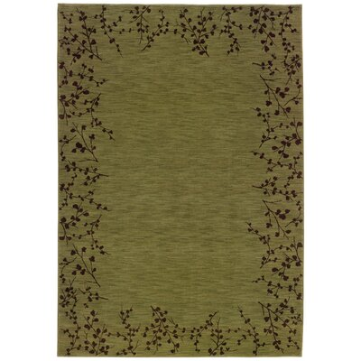 Ryles Green/Brown Area Rug Rug Size: Rectangle 53 x 76