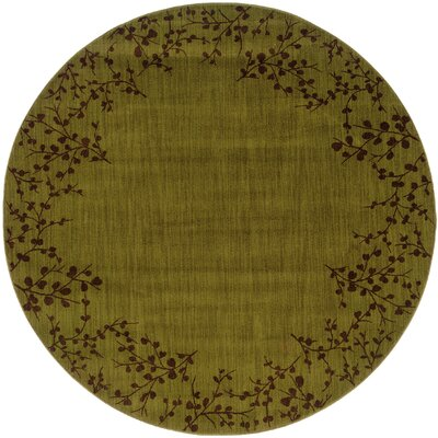 Ryles Green/Brown Area Rug Rug Size: Round 7'8
