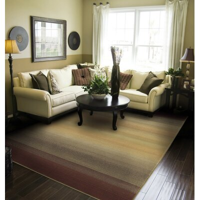 Matilda Brown/Beige Area Rug Rug Size: Rectangle 99 x 122