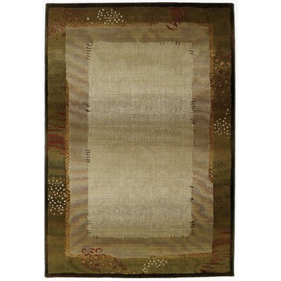 Matilda Green/Beige Area Rug Rug Size: Rectangle 99 x 122