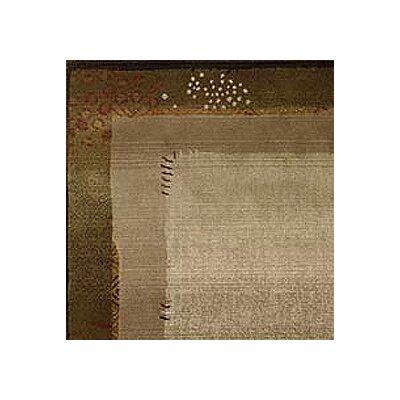 Matilda Green/Beige Area Rug Rug Size: Square 8